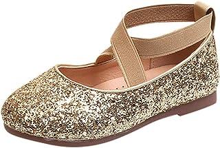 Chaussures pour Filles, Chaussures de Danse Filles WINJIN Paillette Bande élastique Pantoufle de Ballet Latine avec Baller...