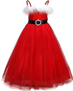 Girls Long Sleeve Reindeer Snowflake Winter Knit Sweater Christmas Dress
