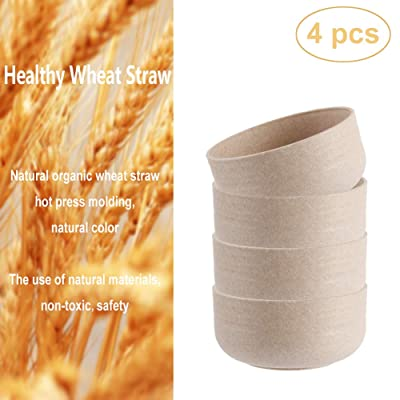 Unbreakable Kids Cereal Bowls, Wheat Straw Fibe...