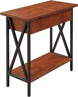 Convenience Concepts 161859 Tucson, Electric Flip Top Table, Cherry & Black