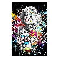 アートポスター女性DIYダイヤモンドペインティングキット5Dフルドリルラインストーンクリスタル刺繡写真クロスステッチアートクラフト大人子供プレゼントホームウォール(スクエア40x(スクエア40x50cm)