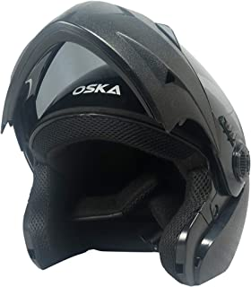 Steelbird SB-41 Oska Classic Flip Up Helmet Full Face Bike Riding Helmets For Man(620MM XLarge, Classic Black With Smoke Visor - Geared With Flip Up Down Feature -Aerodynamics Design)