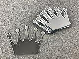 WoMa Kreativ 10x Prinzessin Königin Krone blank Holzschnitt Holz Basteln Malen Deko aus PLEXI Spiegeleffect