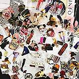 Personalidad europea y americana vintage de lujo pegatinas marea marca impermeable equipaje guitarra teléfono móvil maleta equipaje pegatinas 50PCS