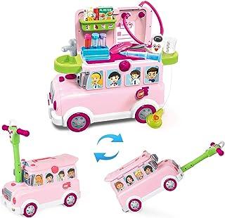 BeebeeRun Medicos Juguete,Los Niños Fingen Que los Doctores Juegan Juego de Roles Autobús Médico Adecuado para 18 Meses 2 3 4 5 años Niños y Niñas (28PCS)