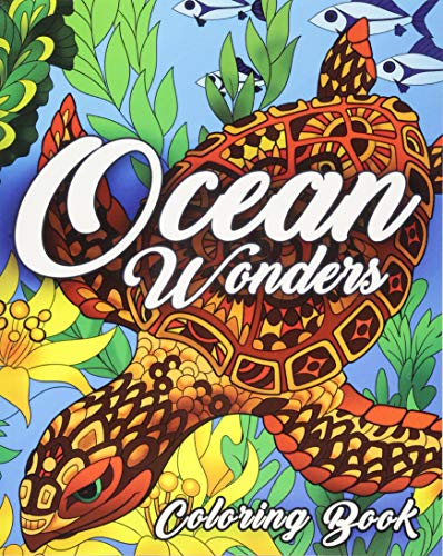 Price comparison product image Ocean Coloring Book: An Adult Coloring Book Featuring Relaxing Ocean Scenes,  Tropical Fish and Beautiful Sea Creatures