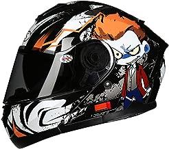 (Orange Alien) Motorcycle Helmet Male, mask, Full face Helmet