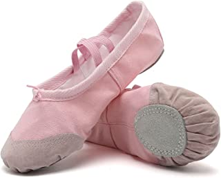 FANTURE Ballet Slippers for Girls Classic Split-Sole Canvas Dance Gymnastics Yoga Shoes Flats(Toddler/Little Kid/Big Kid)