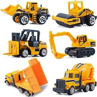 CORPER TOYS ミニカー 6台セット 工事車両 建設車両 作業車両 はたらく車 ショベルカー ダンプカー 車おもちゃ モデルカー 建設現場 コレクション