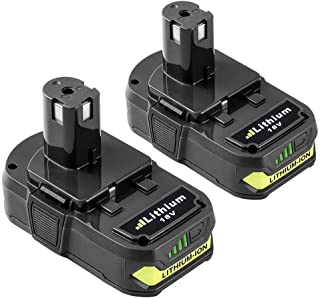 Fhybat 2Pack 3.0Ah Replace for Ryobi 18V Lithium Battery P102 P103 P104 P105 P107 P108 P109 P122 Ryobi ONE+Plus Cordless Tool
