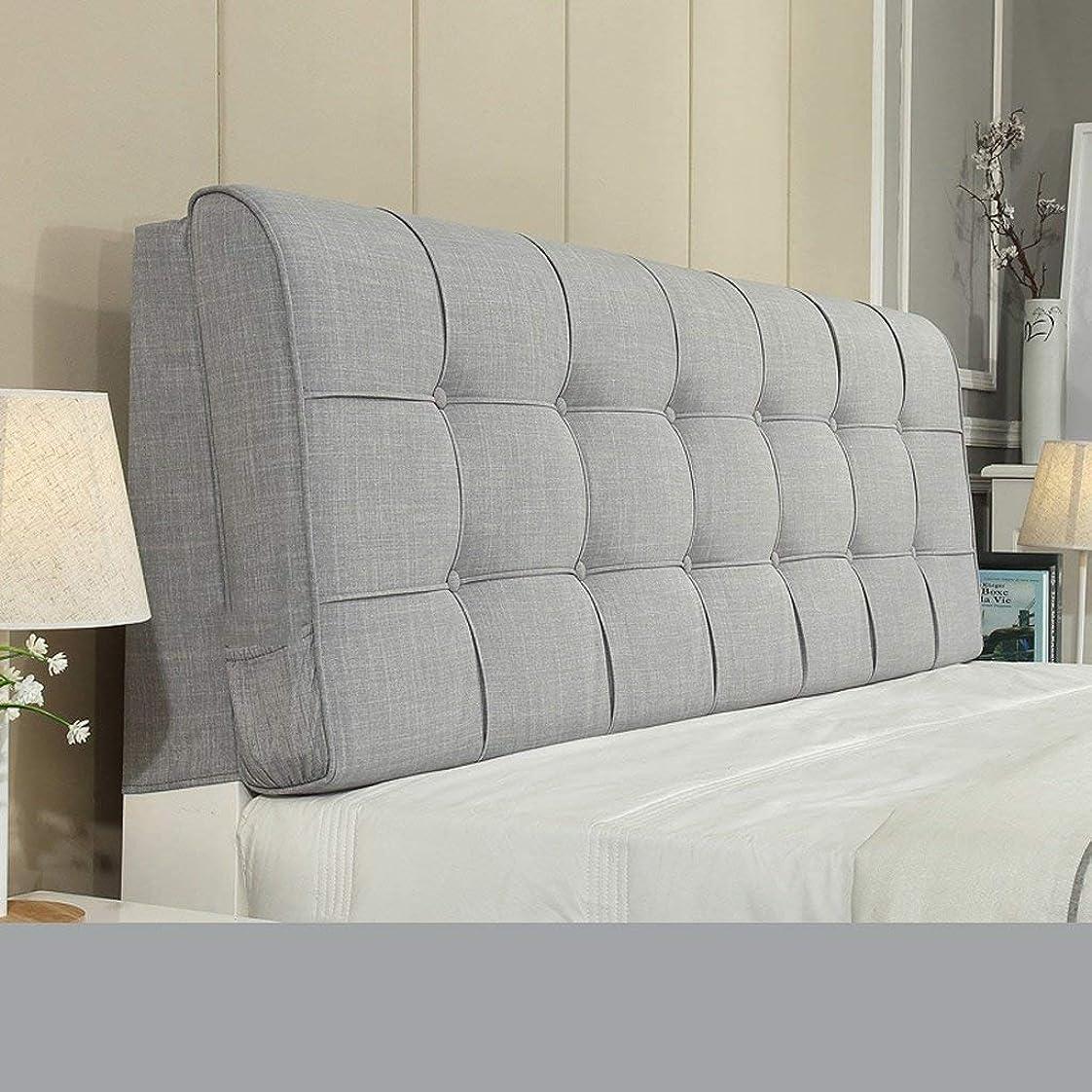 イル彫る排泄するGLP ベッドサイドクッションファブリックリネン畳座ベッドなしソフトバッグ大きな背もたれピローベッドカバー、10色&9サイズ (Color : I, Size : 180×10×58cm)