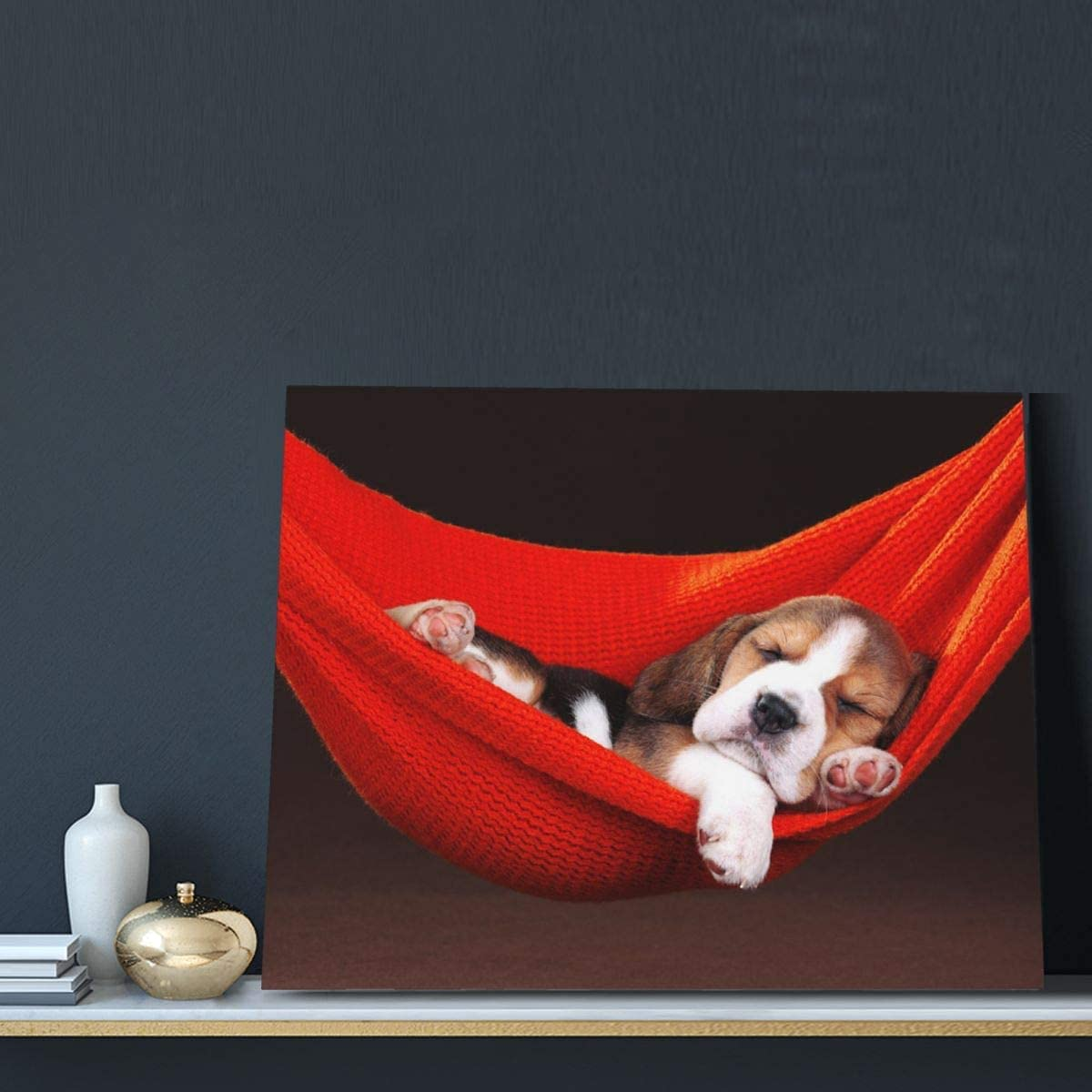 QEWA Funny Pets Sleeping Dog Canvas Popular trend rank shop is the lowest price challenge Paintings Mod Décor Wall Art