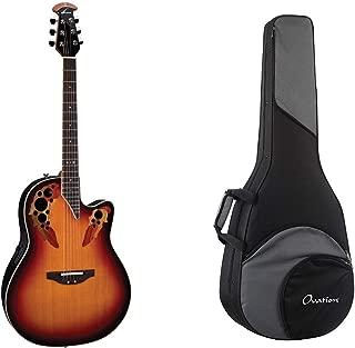 Ovation Standard Elite Acoustic/Electric Guitar - New England Burst + Ovation Zero Gravity Guitar Case