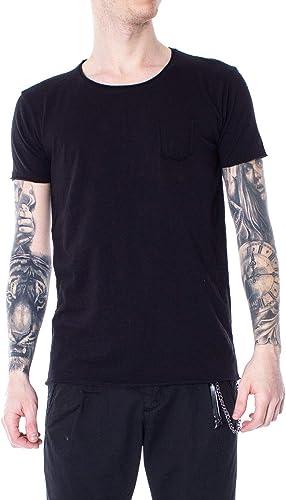 Hydra Clothing Homme 23103noir Noir Coton T-Shirt