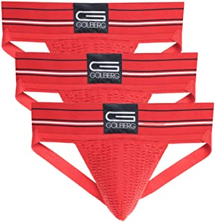 46c6c5910 GOLBERG G Men s Athletic Supporters (3 Pack) - Jock Strap Underwear - Extra  Strength