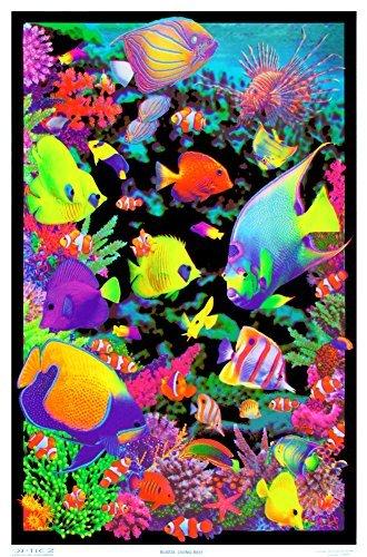 Opticz Living Reef Blacklight Poster