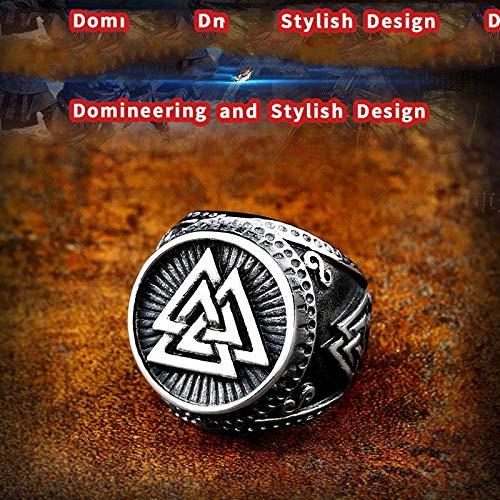 MegOK 316L Edelstahl Nase Wikinger für Männer Ring skandinavischen Krieger slawischen Sonnenrad Runen Valknut Amulett Schmuck LR619,7