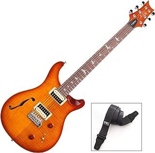 PRS SE Custom 22 Semi-Hollow Vintage Sunburst Electric Guitar with Strap