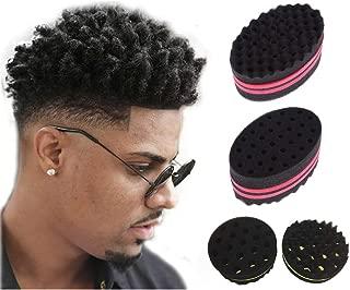 ForHer Magic Barber Sponge Hair Brush for Twisting Afro Dreadlocks Styling Beauty Supply for Men (001_sponges_M)