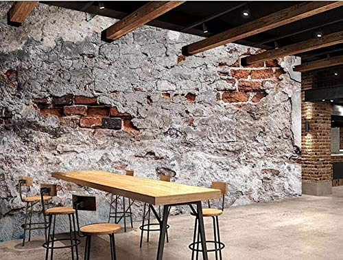 Custom 3D Simple Modern Classic Wallpaper Red Leaves Flower Vine Brick Wall Tv Slaapkamer achtergrond Wall Wallpaper jilisay (Color : 350cmx245cm)