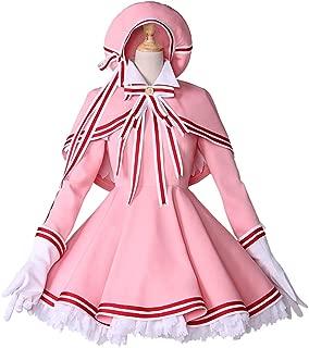 Anime Card Captor Sakura Cosplay Halloween Party Kinomoto Sakura cos Pink Combat Suit Cosplay Costume