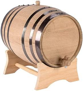 American White Oak 5 Liter Barrel with Black Steel Hoops (Blank)
