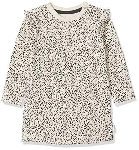 Noppies Baby-Mädchen G Dress ls Chicasaw AOP Kleid, Mehrfarbig (Whisper White Melange P202), (Herstellergröße: 86)