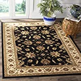 SAFAVIEH Lyndhurst Collection LNH553 Traditional Oriental Non-Shedding Living Room Bedroom Accent Area Rug, 3'3' x 5'3', Black / Ivory