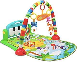 Baby Multifunctional Piano Play Mat,with Light And Sound Learning Carpet Baby Early Education Activity-Green LIUH (Color :...