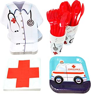 Blue Orchards Doctor Party Packs (113+ Pieces for 16 Guests!), Doctor Party Supplies, Nurse Graduation, Birthday