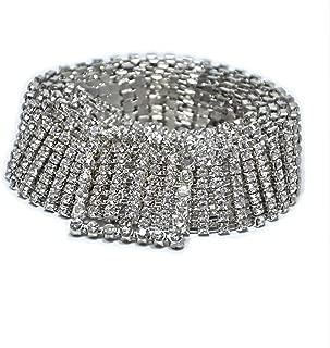 JIURI Women Crystal Rhinestone Chain Buckle Waist Belt Party Club Gold Silver Shiny Bling Sparkly Sash Waistband