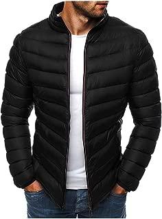 LUCAMORE Men's Winter Zipper Warm Down Jacket Overcoat Multicolor Outwear Light Coat Padded Outdoor Jacket
