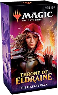 Magic The Gathering: Throne of Eldraine Prerelease Pack (Pre-Pelease Promo + 6 Boosters + d20 Spindown Counter) Kit