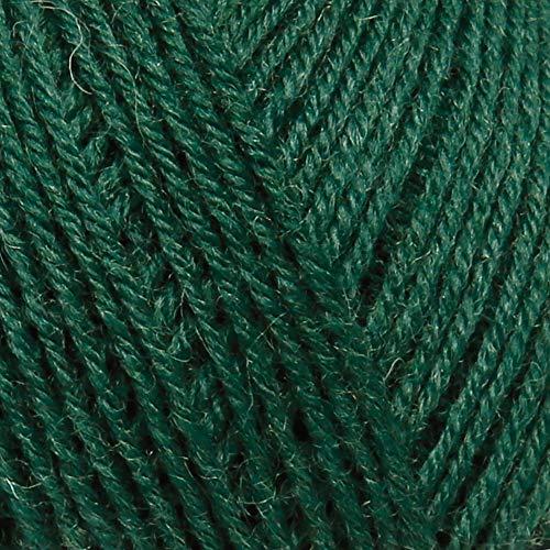 ggh ElbSox - 4 Uni, Sockenwolle 4-Fach, Farbe:007 - Grün, Schurwolle Mischung, 50g Wolle als Knäuel, Lauflänge ca.210m, Verbrauch 500g, Nadelstärke 2-3, Wolle zum Stricken und Häkeln