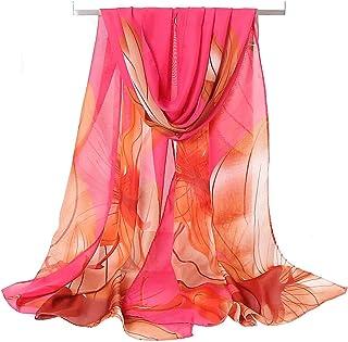 Women's Chiffon Scarf Lightweight Fashion Sheer Scarfs Shawl Wrap Scarves