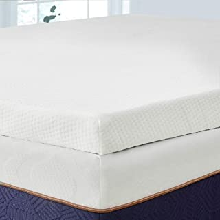 BedStory 3 Inch Memory Foam Mattress Topper, Lavender Infused Toppers for Bed, Premium Mattress Pad with Removable Soft Cover, Ventilated Design & CertiPUR-US Certified Foam, Queen Size