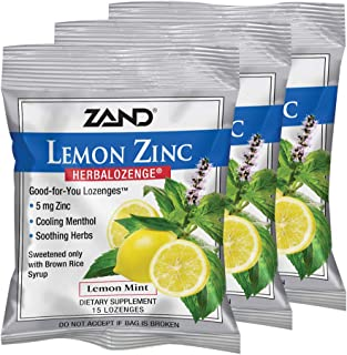 Zand Herbalozenge, Lemon Zinc, 15 Count (Pack of 3)