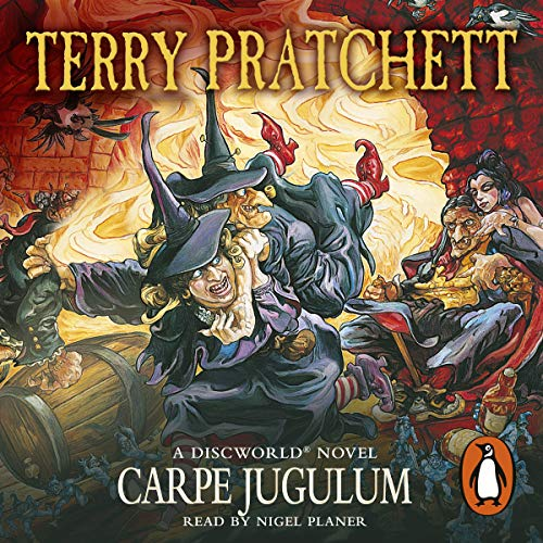 Carpe Jugulum                   By:                                                                                                                                 Terry Pratchett                               Narrated by:                                                                                                                                 Nigel Planer                      Length: 9 hrs and 44 mins     1,175 ratings     Overall 4.8