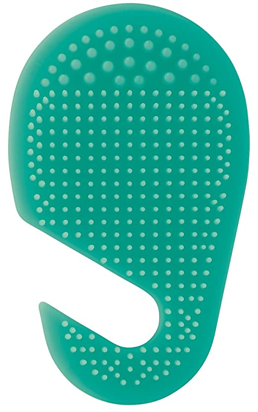 露出度の高い遠近法絶望スケーター 足の裏用 マッサージ ブラシ 10.2×2×17cm グリーン SLFT1