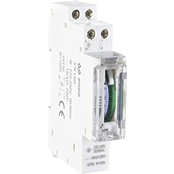 POPP® Electric Temporizador diario analógico para montaje en panel, en pasos de 24 horas 15 min, 230 V, max. 3500 W. (YX180): Amazon.es: Bricolaje y herramientas