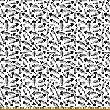 ABAKUHAUS Trippy Microfaser Stoff als Meterware, Lustige