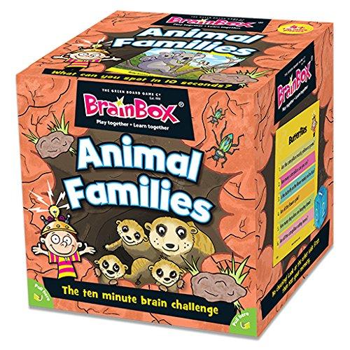 Green Board Games Brainbox Animal Families