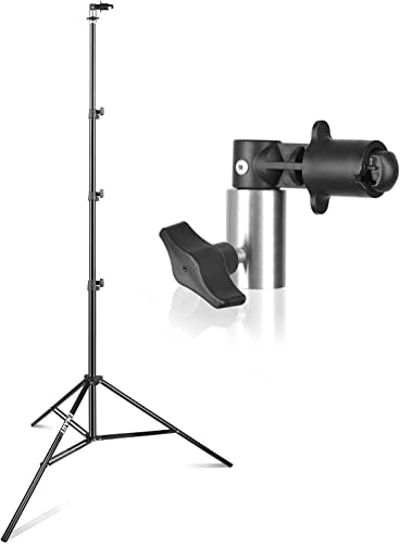 SHOPEE SP 250 8 5ft Photography Light Stand and Background Reflector Disc Holder Clip for Photo Video Studio Product Portrait Shooting