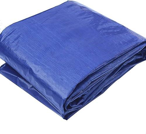 JINSH Bache imperméable Bleue grise de Tissu imperméable, Tapis de Camping en Plastique tissés pour auvent, Abat-Jour extérieur Anti-poussière et Coupe-Vent (Couleur   A, Taille   8x12m)