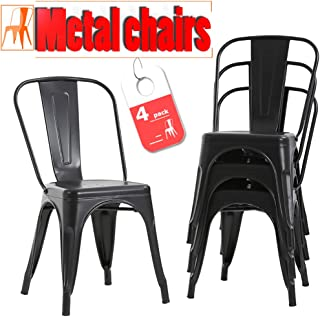 FDW Stackable Chair Restaurant Chair Metal Chair Chic...