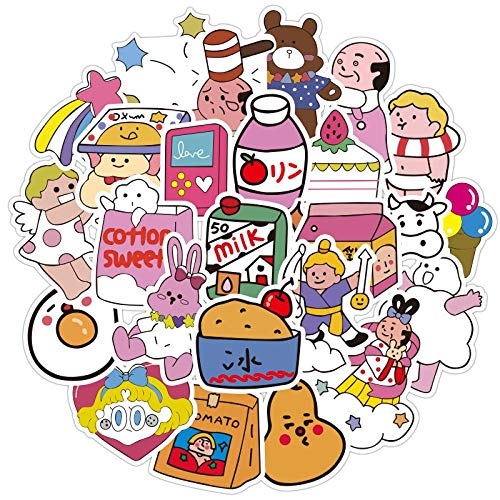 Wawale stickers, schattige cartoons, motief: krabbelstenen, koffer, handbagage voor meisjes (48 foto's)