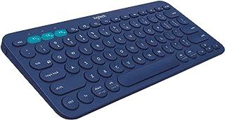 Logitech K380 Teclado Inalámbrico Multi-Dispositivos para Windows, Apple iOS, Android o Chrome, Bluetooth, Diseño Compacto, PC/Mac/Portátil/Smartphone/Tablet/Apple TV, Disposición QWERTY UK - Azul