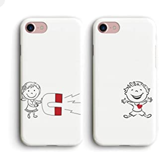 Shark Captured My Heart Best Friends Style/Boyfriend&Girlfriend/His and Hers/Matching Couple Cases for (BOY:iPhone 7 Plus/8 Plus)