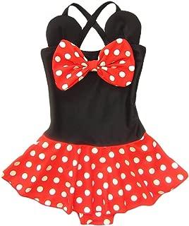 Kid Toddler Baby Girls Bathing Suit Bow Dot One Piece Swimsuit Swimwear