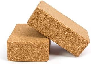 2X ECO-Friendly Cork Yoga Block Organic Yoga Prop Accessory Exercise Brick - 100% Natural, Organically Sourced Cork